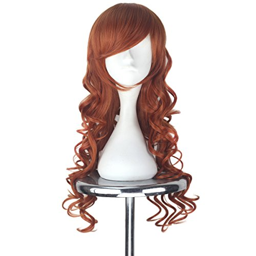 Miss U Hair Synthetic Women Auburn Long Curly Party Cosplay Costume Wig Halloween]()