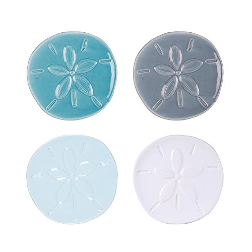 Cape Coral Collection, Assorted Sand Dollar Plates (Set of 4), White