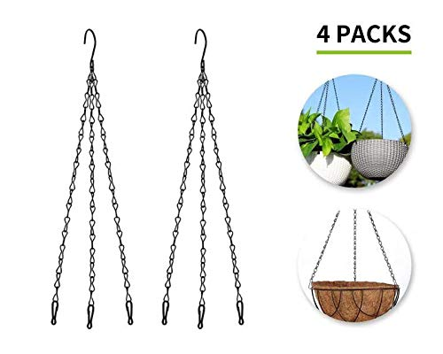 s) Steel Hanging Chain Hanging Basket Chain Hanging Pot Chain Garden Flower Plant Hanger Chain (Black) ()