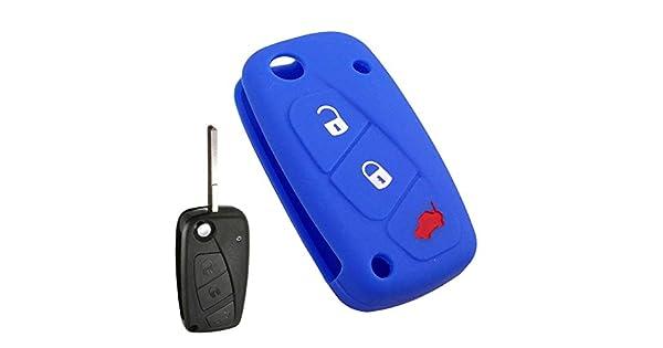 Amazon.com: Llavero con 3 botones de silicona para Fiat ...