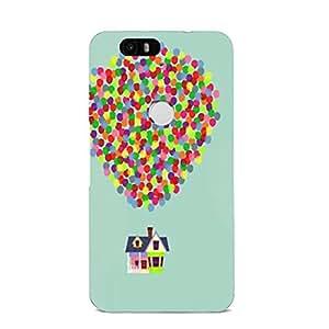 Elegant Clear Mint Hot Air Balloon Phone Case Protective Shell Cover For Nexus 6P Hot Air Balloon Fashion