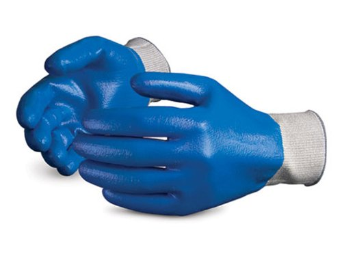Superior S13SXFCNT Superior Touch Dyneema String Knit Glove with Fully Nitrile Coated, (Rubber Coated Fiber)