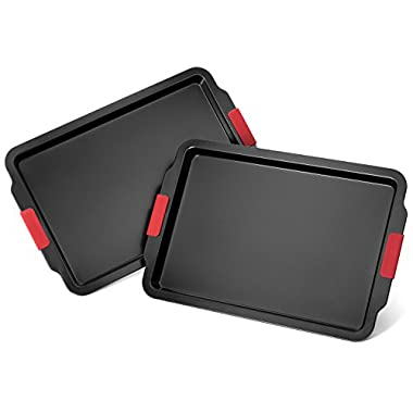Elite Bakeware 2 Piece Extra Large NonStick Baking Pans Set - Cookie Sheets - Baking Sheets - Extra Large Non Stick Bakeware - Cookware