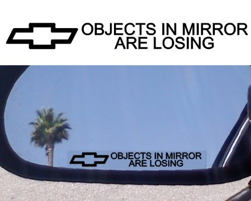 (2) MIRROR DECALS with logos for Chevy Chevrolet Blazer Decal ()