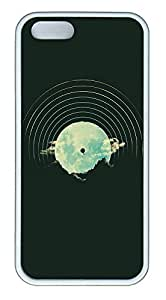taoyix diy iPhone 5 5S Case Mountains Balloon Abstract Illustration506 TPU Custom iPhone 5 5S Case Cover White