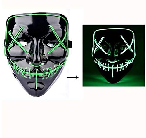 CNC INC Halloween LED Mask Purge Masks Election Mascara Costume DJ Party Light Up Masks Glow