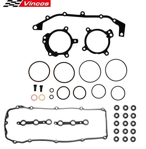 (Vincos DUAL VANOS O-Ring Seal Repair Kit Valve Cover Gasket set w/Bolts Seals Replacement For BMW M54 / M52tu)