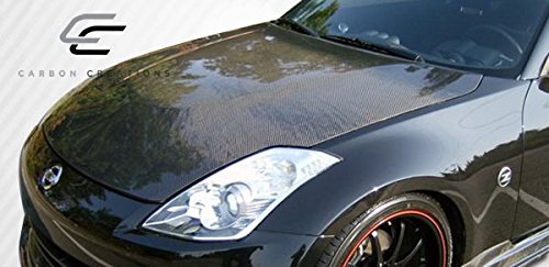 Carbon Creations Replacement for 2007-2008 Nissan 350Z Z33 OEM Look Hood - 1 Piece