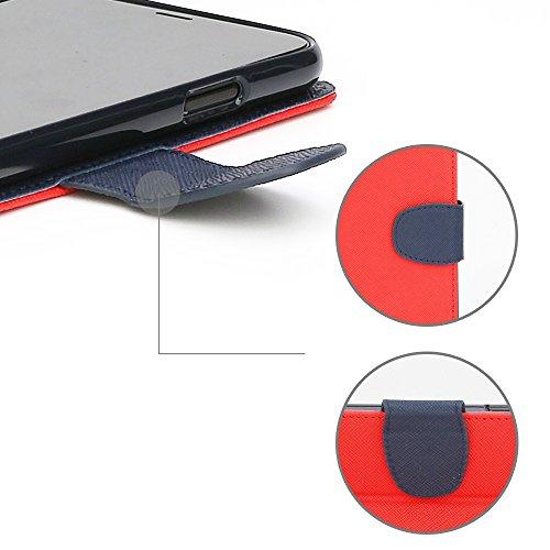Caja de la carpeta para el iPhone iPhox SE / 5S / 5, iPhone 6S / 6, iPhone 6S Plus / Plus 6, 7 iPhone iPhone 7 Plus (iPhone X, Black/C) Red/Blue