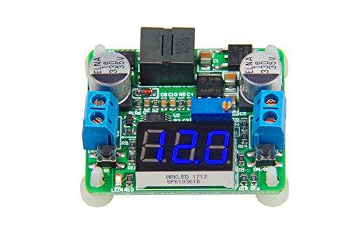 KNACRO DC-DC Buck Boost Converter 5V-25V to 0.5-25V 2A High Efficiency Voltage Regulator 5V 12V Variable Volt Power Supply Stabilizers with Blue LED Voltmeter for Car Battery Fan