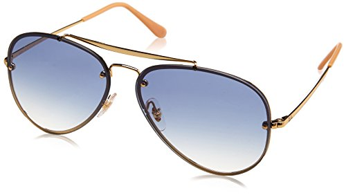 Ray-Ban 0rb3584n001/1961blaze Aviator Sunglasses, Gold, 61 - Ray Style Ban Sunglasses New