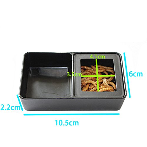 OMEM-Worm-Dish-Mini-Reptile-Food-and-Water-Bowl-2-in-1
