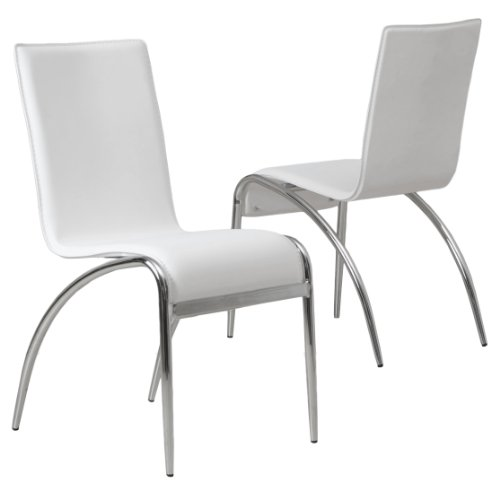 Enola Dining Furniture Modern Design Dining Chairs White set of 2