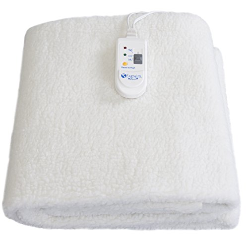 EARTHLITE Fleece Massage Table Warmer - Fleece Pad, Dual Heat Settings, Elastic Corner Straps, 13ft Power Cord