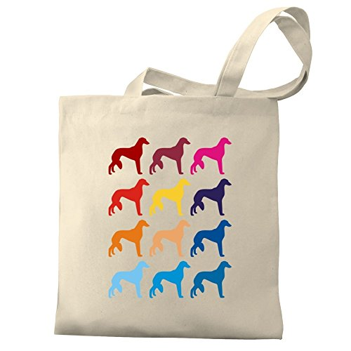 Saluki Colorful Eddany Tote Eddany Bag Canvas Colorful BzwTpqxP