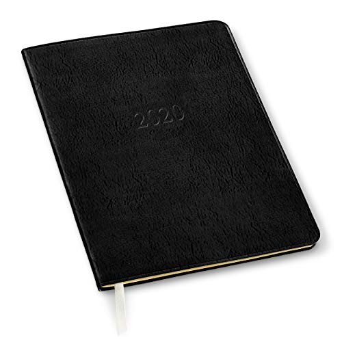 2019/2020 Gallery Leather Large Monthly Planner Acadia Black 9.75