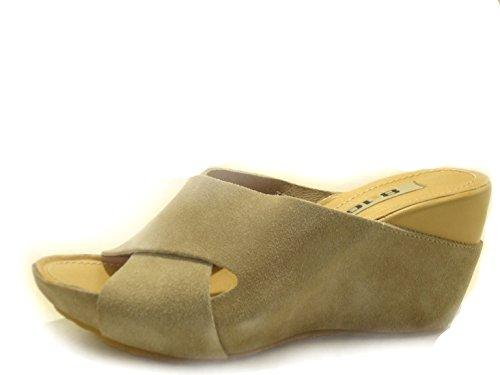 Art pantufla Qh322 Mujer 8 Sandalo 10 Ciabatta CafèNoir Zeppa 402 E0YFqHWzB
