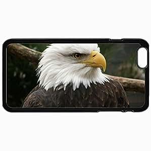 Customized Cellphone Case Back Cover For iPhone 6 Plus, Protective Hardshell Case Personalized Eagle Bird Predator Beak Black