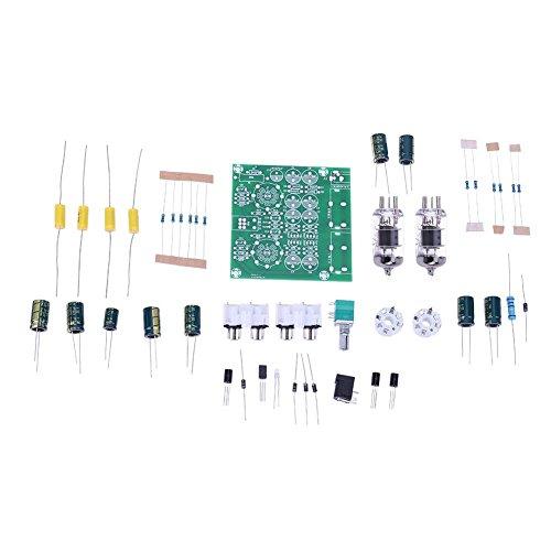 LiChiLan Pre-Amplifier Board Kit, AC 12V 6J1 Valve Pre-amp Tube Pre-Amplifier Board Headphone Buffer DIY Kit