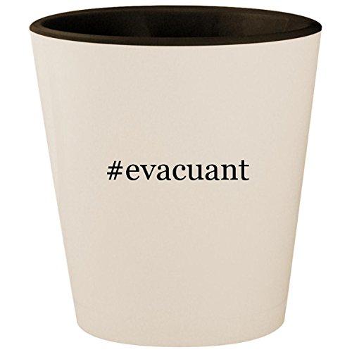 #evacuant - Hashtag White Outer & Black Inner Ceramic 1.5oz Shot Glass