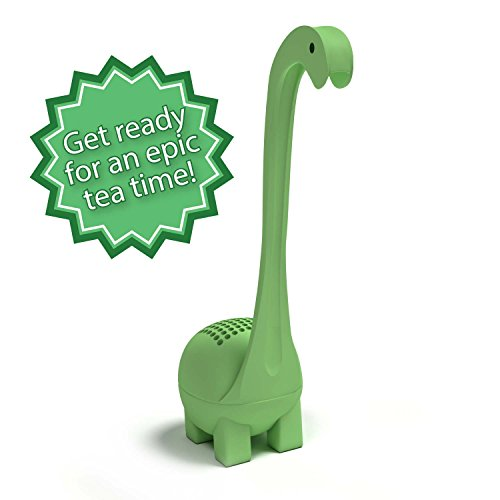 Baby Dino Loose Leaf Tea infuser with Long Handle Neck & Cute Ball Body.