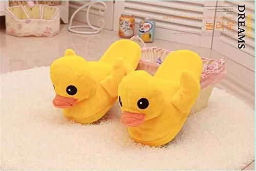 Algodón Yellow2 Zapatos Gruesos Pato Ruibarbo Hogar Para De Calzado El Inferiores Interior Zapatillas Invierno qZABw5y