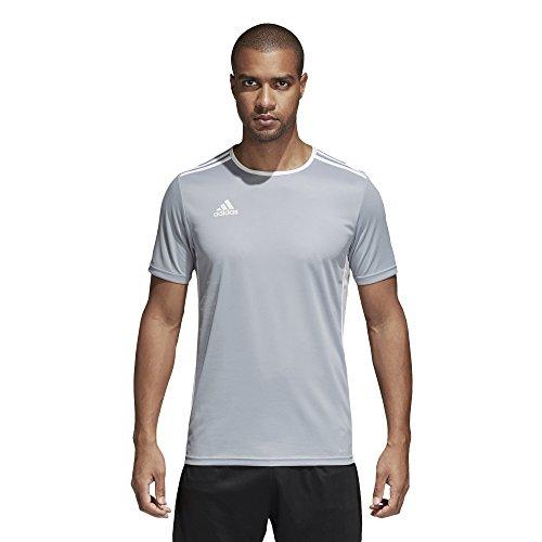 adidas Men's Soccer Entrada 18 Jersey, Light Grey/White, XX-Large