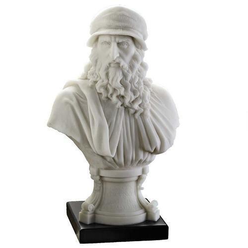 Leonardo Da Vinci Marble Resin Bust Design Renaissance Statue
