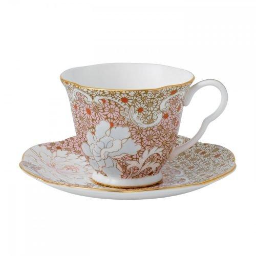 Wedgwood Daisy Tea Story Teacup and Saucer Set, Pink
