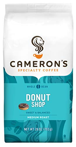 Cameron's Coffee Roasted Whole Bean Coffee, Donut Shop, 28 Ounce