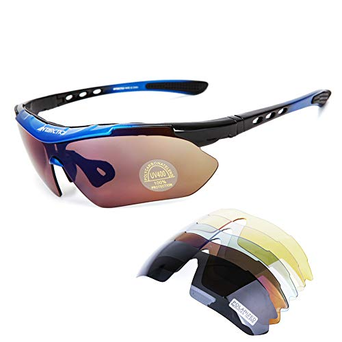 ANTARCTICA Sports Polarized Sunglasses UV Protection with 5 Interchangeable Lens for Cycling Fishing ()