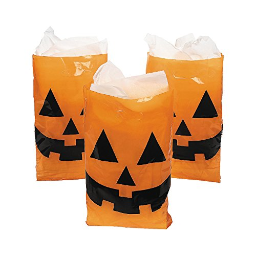 Jack-O-Lantern Trick or Treat Bags (Pack of 50) -