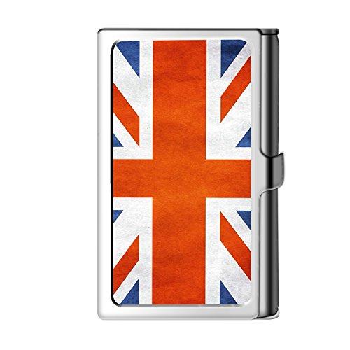 Sliver Designed Business Card Holder Case File Folders Slim Business Name Wallet Card Holder With British - Card Square Union Gift