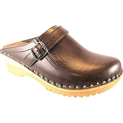 Size 37 Cola Brown Mary Jane Troentorp Bastad Swedish Clogs