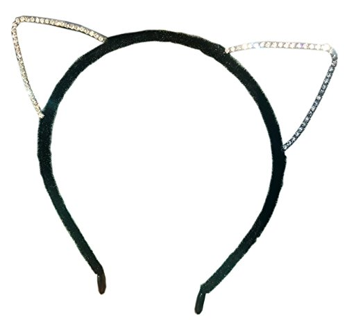 Cat Ears Headband with Crystal Rhinestones. Perfect for