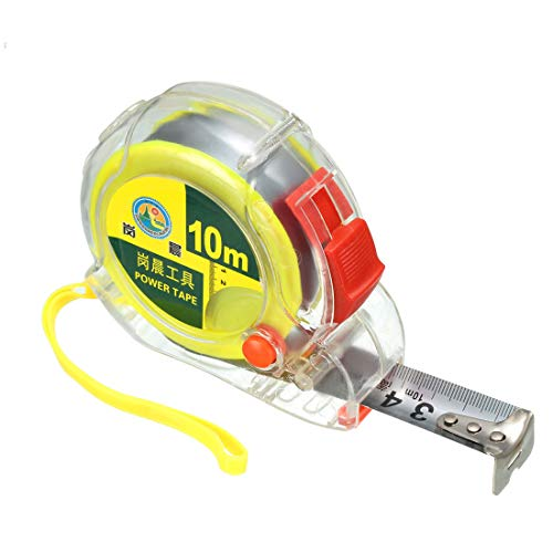 uxcell Measuring Tape Retractable 32Ft 10 Meters Plastic Case Metric Tape Measure Ruler