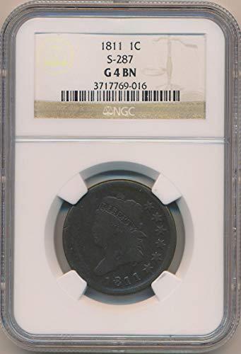 1811 P Coronet Cent G4 NGC