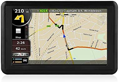 NETVIP GPS Navigation for Car 5 inch HD Touch Screen, Vehicle GPS Navigator Voice Traffic Warning Speed Limit Reminder, GPS Navigation System with 4 16GB Large Storage, Lifetime Maps Update for Free