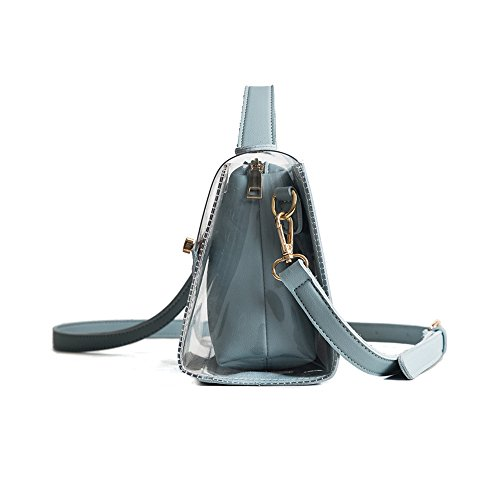 Bags Purse in Crossbody Transparent ZMB blue Messenger Women's Waterproof bag Shoulder pink 1 Bags 2 Handbag 2 Clear 6qXxx5t7
