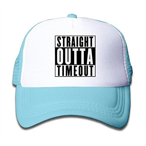 Straight Outta Timeout Adjustable Trucker Sun Visor Cap SkyBlue ()