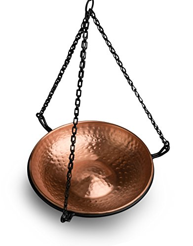 Monarch Abode 17065 Hanging Hammered Copper Bird Bath by Monarch Abode (Image #6)