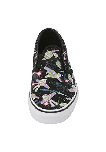 5ac9402e3c Vans Kids Shoes Classic Slip On Disney Pixar Toy Story Buzz Lightyear Black