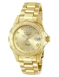 Invicta Men's 14397 Angel Analog Swiss-Quartz Gold Watch