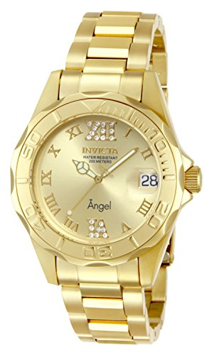 Invicta Women's 14397 Angel Analog Swiss-Quartz Gold Watch (Watches Invicta Women Gold)