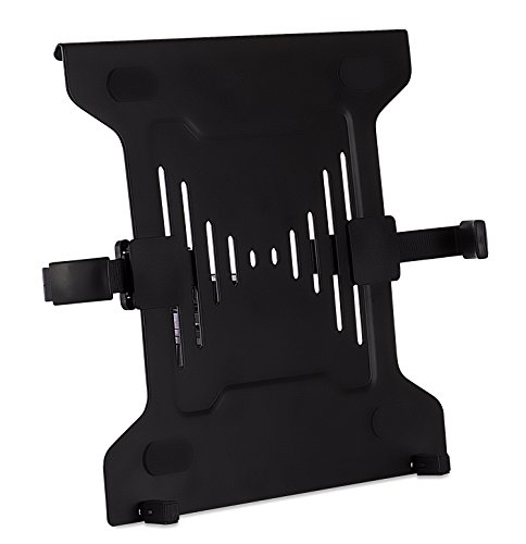 Mount-It! Laptop VESA Mount Tray, Steel Notebook VESA Holder Adapter Platform for VESA Monitor Mounts, Vented for Cooling and Clamp for Safe Grip, Up to 15.6