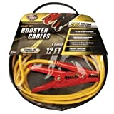 Medium Duty Battery Booster Cables, 12 Foot, 8 Gauge, with 400 Amp Clamps Tools Equipment Hand Tools