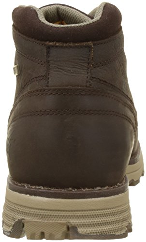 Caterpillar Uomo Marrone Brown Dark Stivali WP Chukka Elude qwfxfZ6O