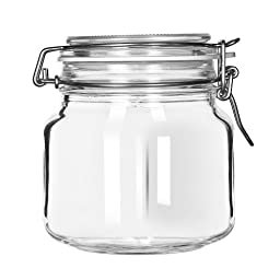 Libbey 17209925 Glass 25.25 Oz. Garden Jar with Lid - 6 / CS