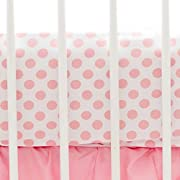 My Baby Sam Polka Dot Crib Sheet, Coral