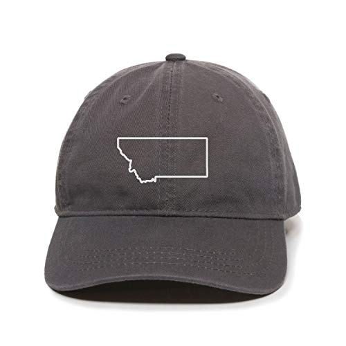DSGN By DNA Montana Map Outline Dad Baseball Cap Embroidered Cotton Adjustable Dad Hat -